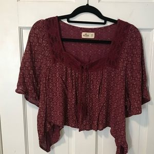 Hollister cropped girls shirt size extra small